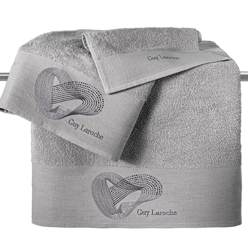 Πετσέτες Alora Σετ 3τμχ Silver Guy Laroche Σετ Πετσέτες