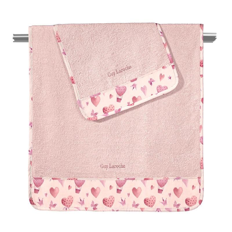 Πετσέτες Βρεφικές Sweet Heart Σετ 2τμχ Pink Guy Laroche Σετ Πετσέτες