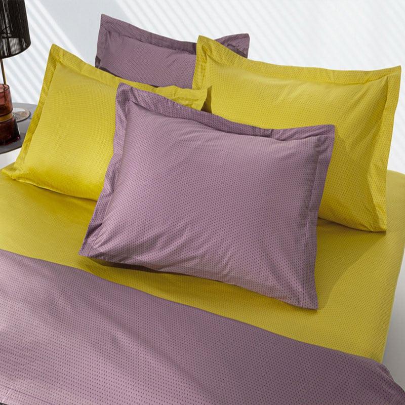 Σεντόνια Aquarelle Purple-Lime Σετ 4τμχ Guy Laroche Υπέρδιπλo
