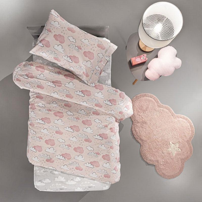 Σεντόνια Παιδικά Cloudy Σετ 3τμχ Pinky Guy Laroche Μονό