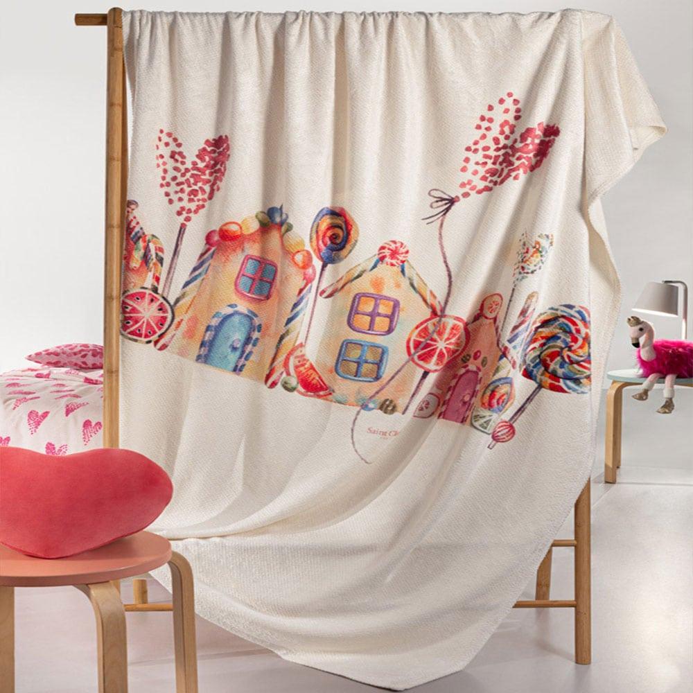 Κουβέρτα Παιδική Ultrasoft Lollipop Multi Saint Clair Μονό