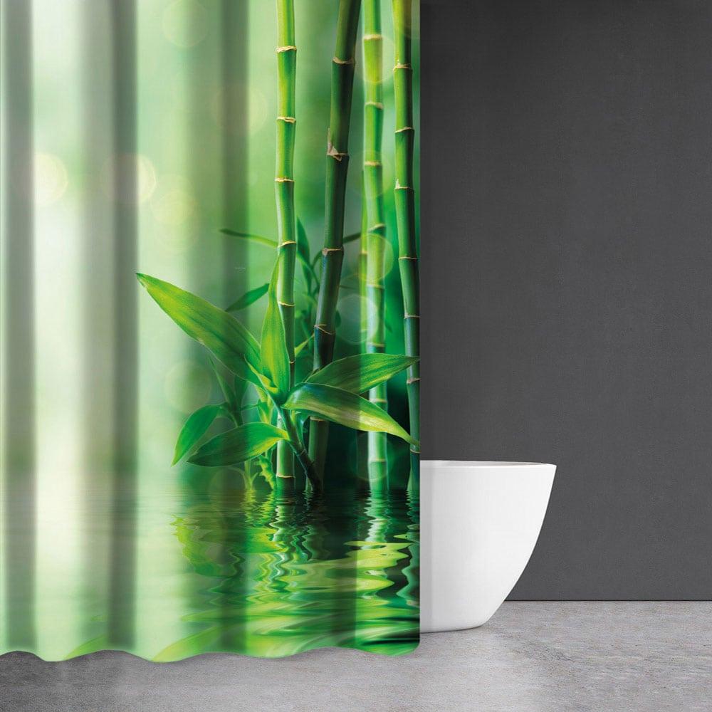 Κουρτίνα Μπάνιου Zen Body Des 815 Green Saint Clair Φάρδος 200cm