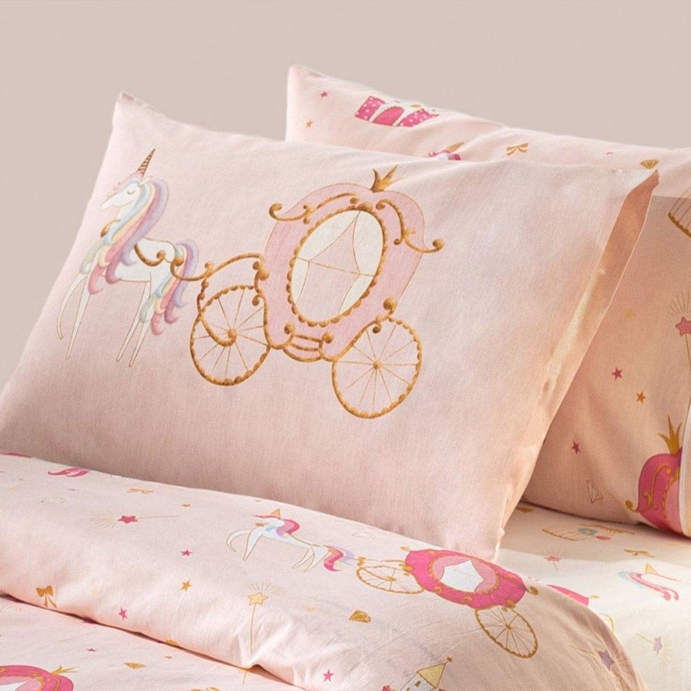 Μαξιλαροθήκη Παιδική Cinderella Pink Saint Clair 50Χ70