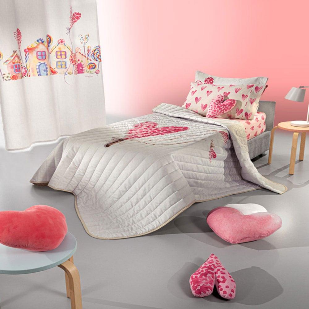 Πάπλωμα Παιδικό Lollipop Suede Pink Saint Clair Μονό