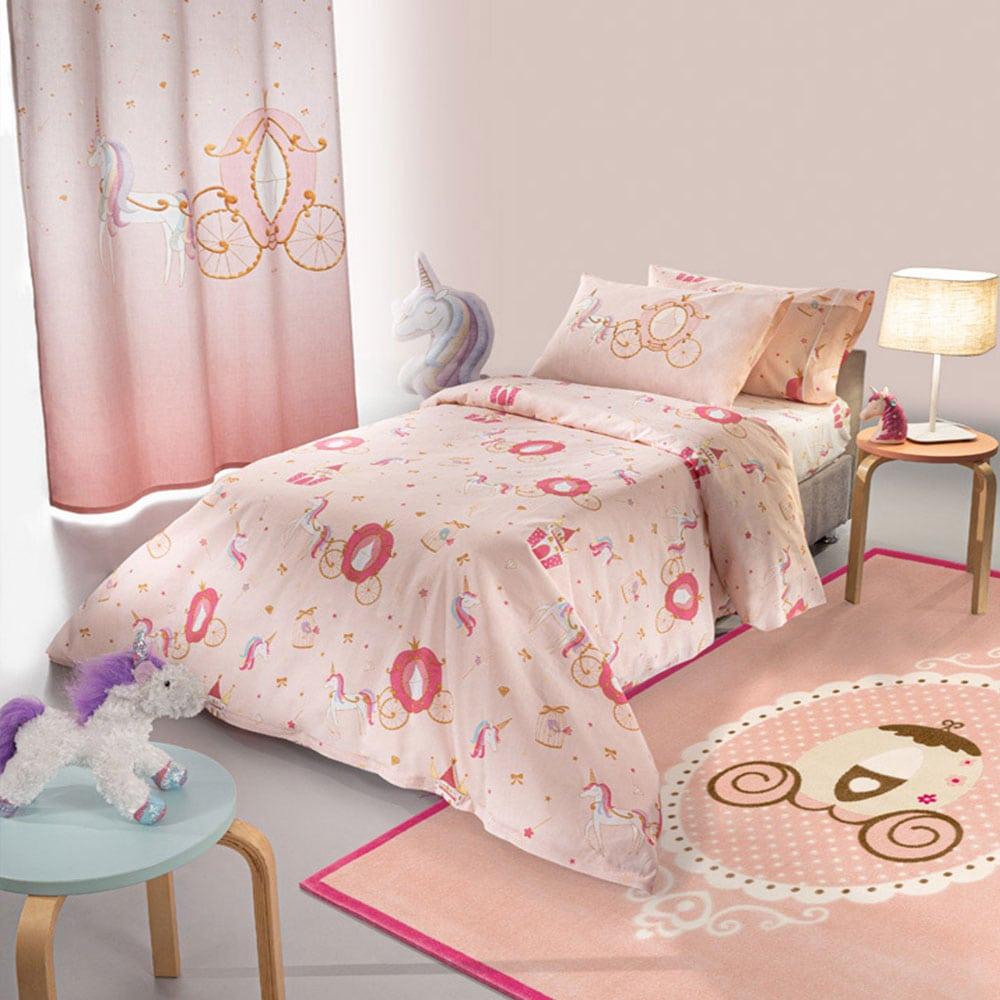 Παπλωματοθήκη Παιδική Σετ 2τμχ Cinderella Pink Saint Clair Μονό