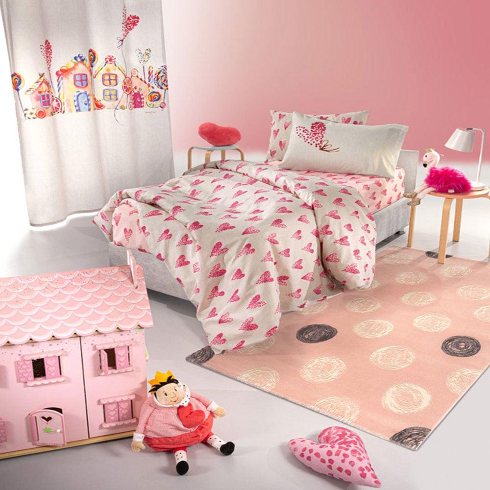 Παπλωματοθήκη Παιδική Σετ 2τμχ Lollipop Pink Saint Clair Μονό