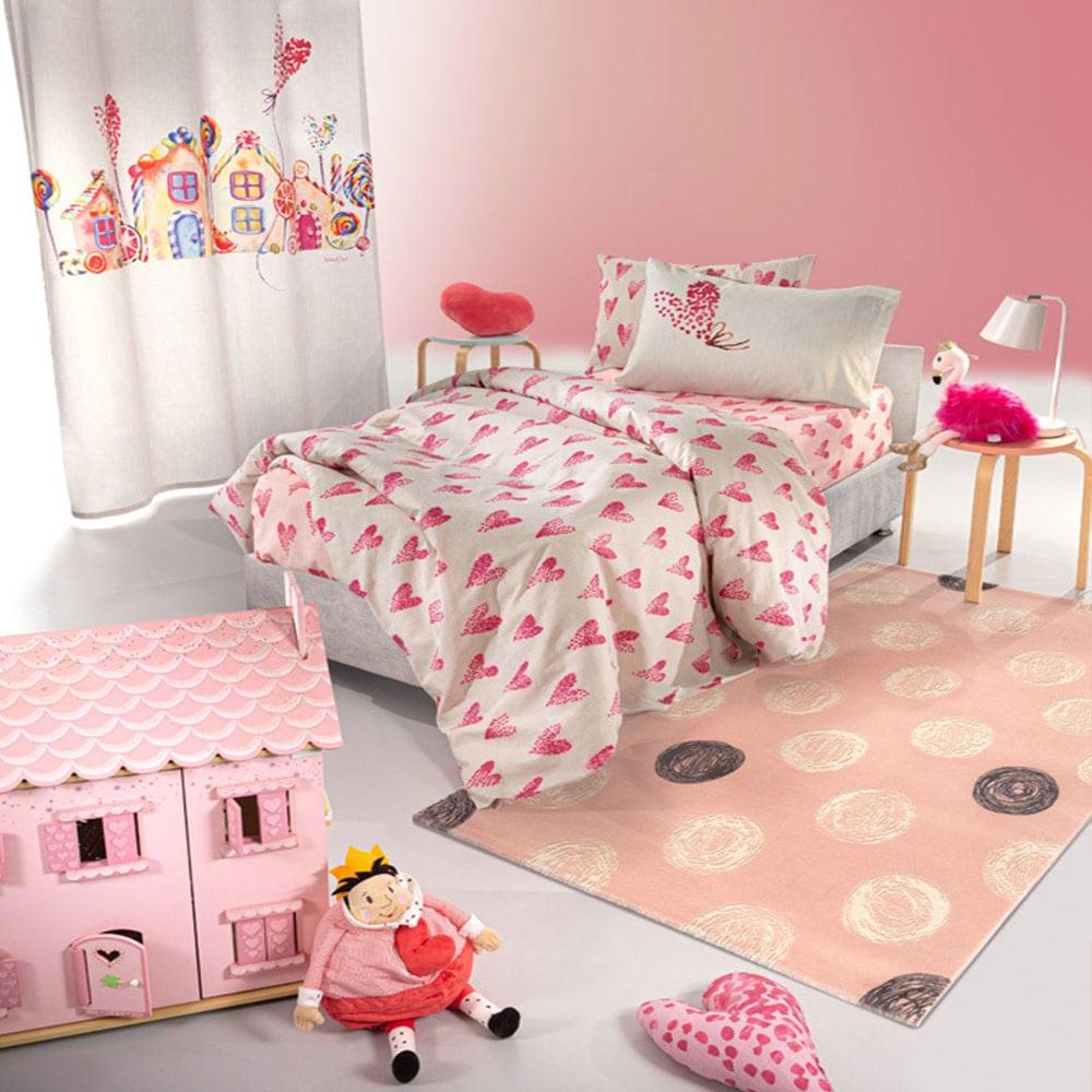 Σεντόνια Παιδικά Σετ 3τμχ Lollipop Pink Saint Clair Μονό