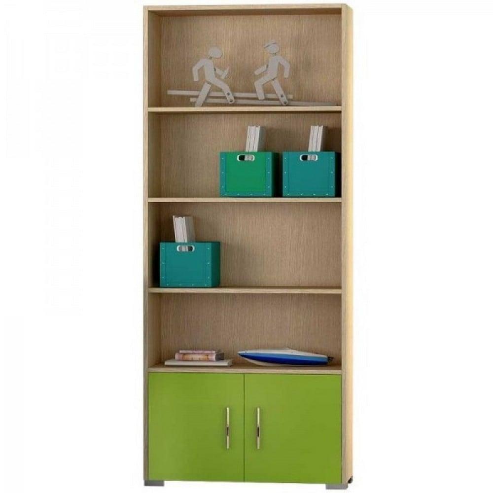 Βιβλιοθήκη Παιδική Νο. 12 75x180x30 Oak-Green