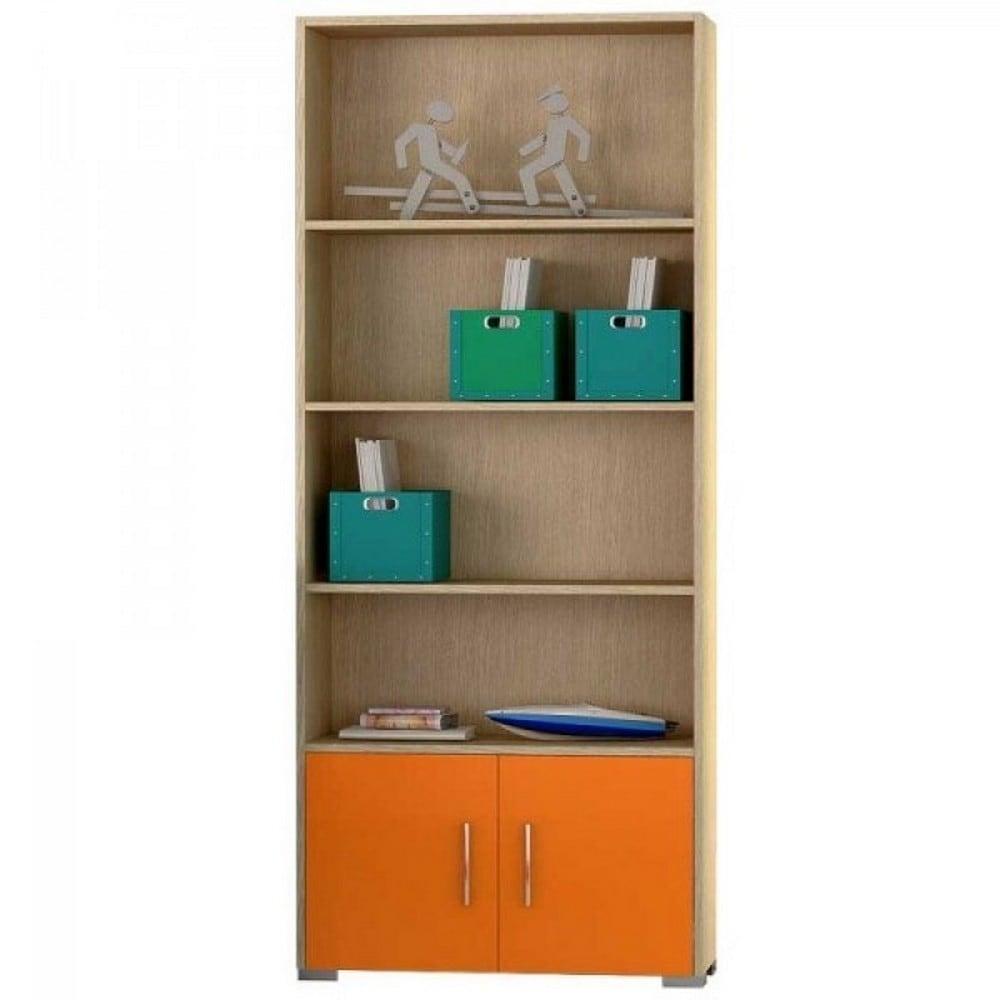 Βιβλιοθήκη Παιδική Νο. 12 75x180x30 Oak-Orange
