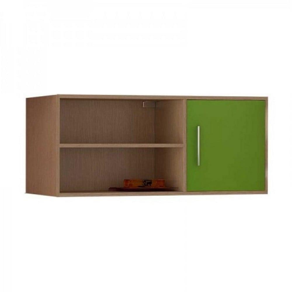 Εταζέρα Τοίχου Παιδική Νο. 43 100x43x30 Silky Oak-Green