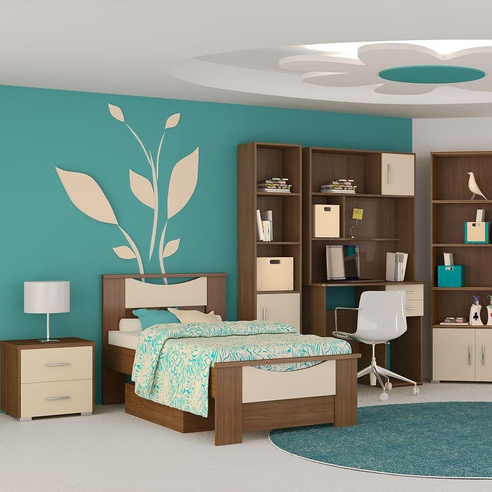 Κρεβάτι Παιδικό Νο. 16 Smile 110×190 Oak-Beige Ημίδιπλο