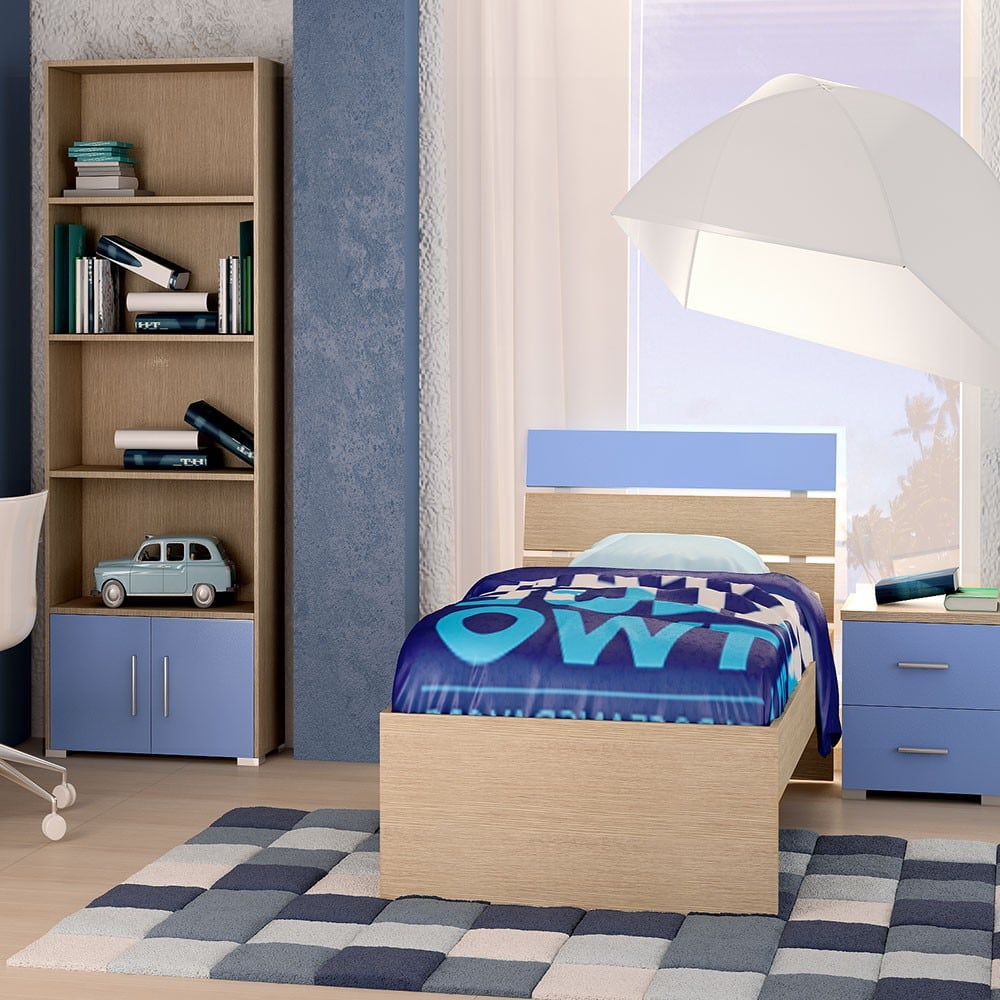 Κρεβάτι Παιδικό Νο. G52 Nota 110×190 Oak-Blue Ημίδιπλο