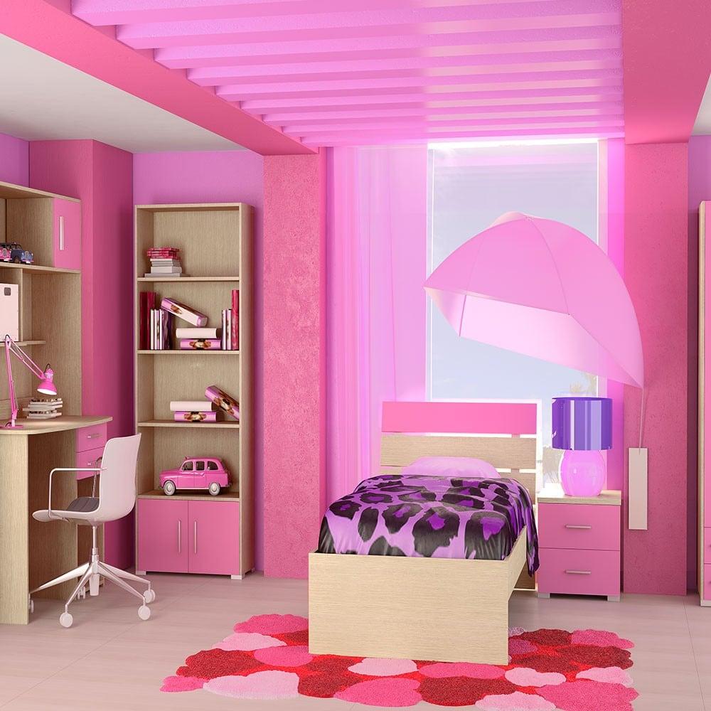 Κρεβάτι Παιδικό Νο. G52 Nota 110×190 Oak-Pink Ημίδιπλο