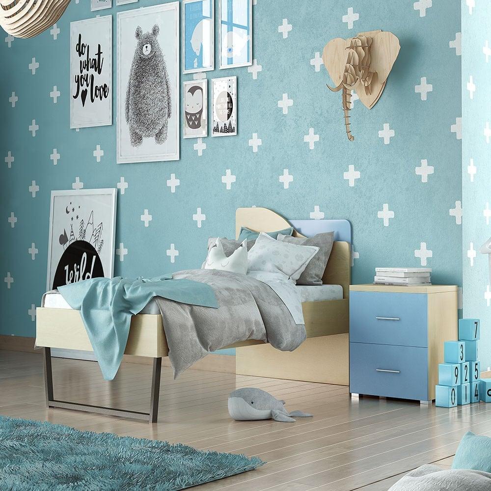 Κρεβάτι Παιδικό Νο.96C 90×190 Tokso Blue Μονό