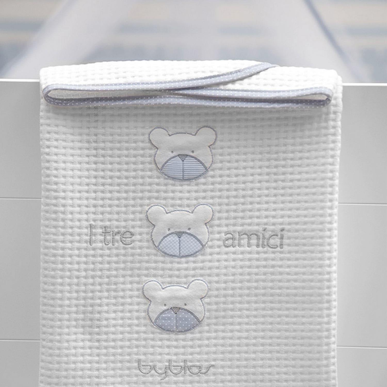 Κουβέρτα Βρεφική Πικέ Design 80 Amici Blue Byblos Κούνιας 100x140cm