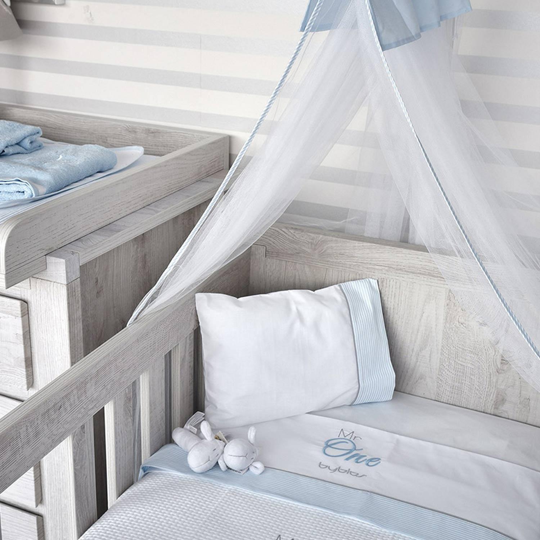Κουβέρτα Βρεφική Πικέ Design 82 One Blue Byblos Αγκαλιάς 80x100cm