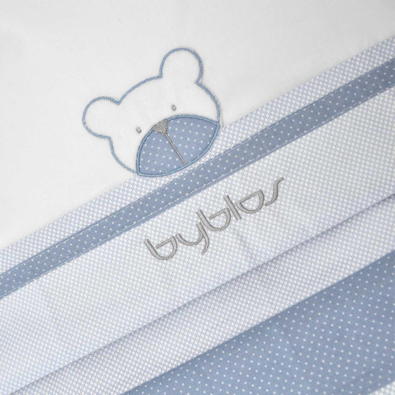 Σεντόνια Βρεφικά Σετ 3τμχ Design 80 Amici Blue Byblos Κούνιας 110x160cm
