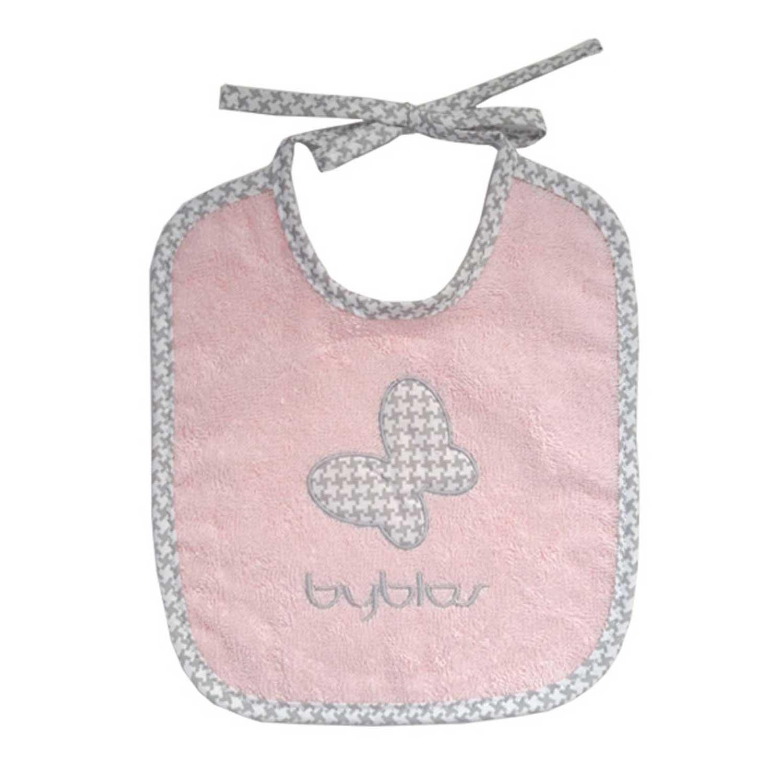 Βρεφική Σαλιάρα Design 84 Butterfly Pink Byblos 110x160cm