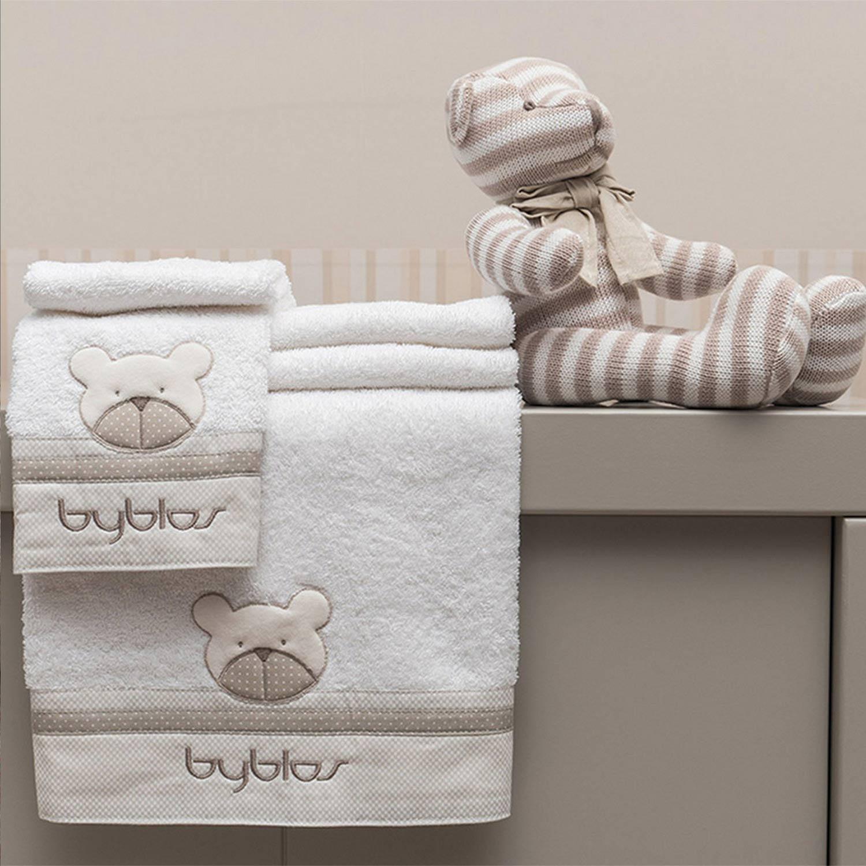 Βρεφικές Πετσέτες Σετ Design 80 Amici Beige Byblos 2τμχ Σετ Πετσέτες 30x50cm