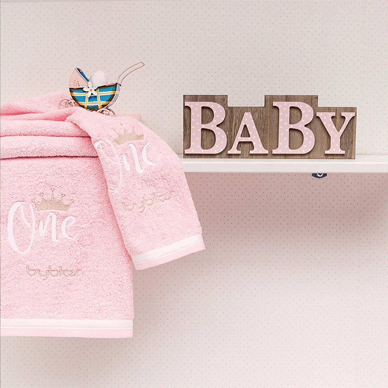 Βρεφικές Πετσέτες Σετ Design 86 One Pink Byblos 2τεμ Σετ Πετσέτες 30x50cm