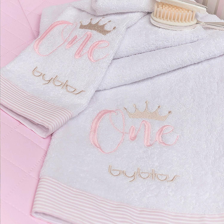 Βρεφικές Πετσέτες Σετ Design 83 One Pink-White Byblos 2τεμ Σετ Πετσέτες 30x50cm