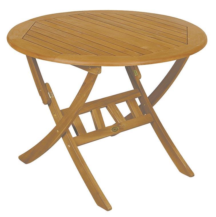 Τραπέζι Στρογγυλό Πτυσσόμενο TUR 6F AC Natural Φ 60X75 cm | Tani.gr