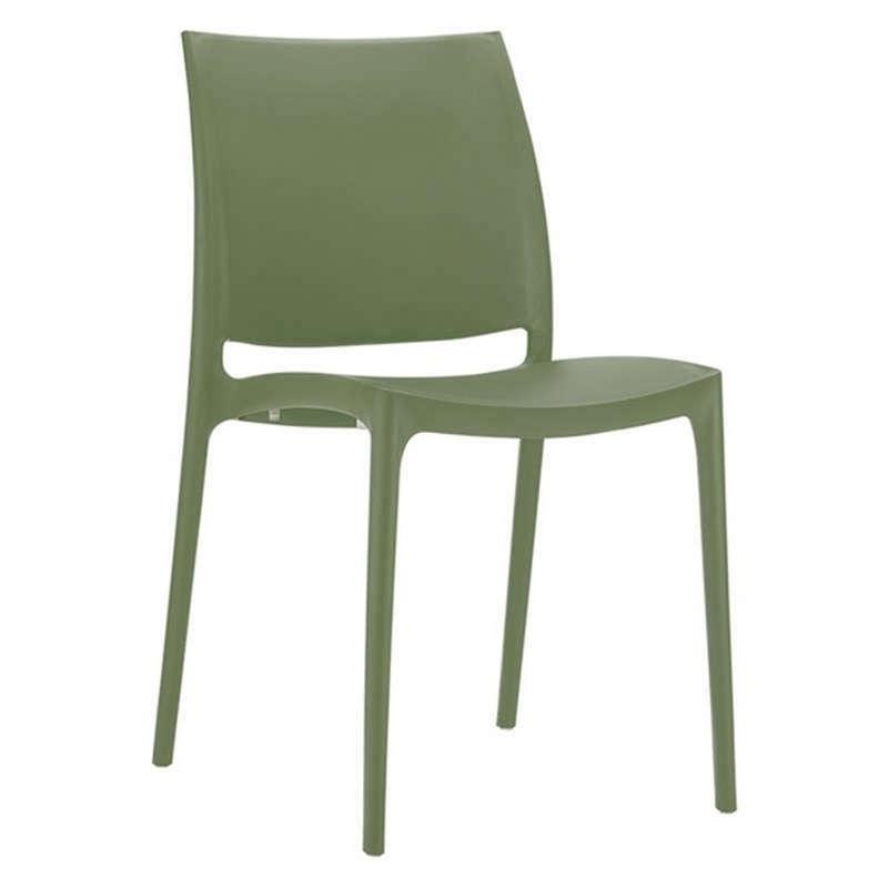 Καρέκλα Μαγια Olive Green 44Χ50Χ81εκ. Siesta 20.0141
