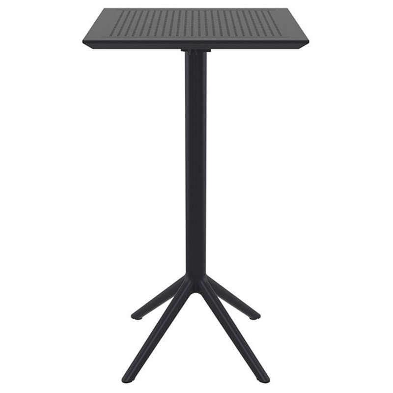 Τραπέζι Πτυσ/νο Μπαρ Sky 60Χ60Χ108εκ.Black Siesta 20.0289