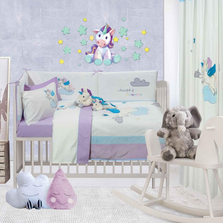 Κουβερλί Βρεφικό Σετ 6463 Baby Dream Embroidery Das Baby Κούνιας 110x150cm