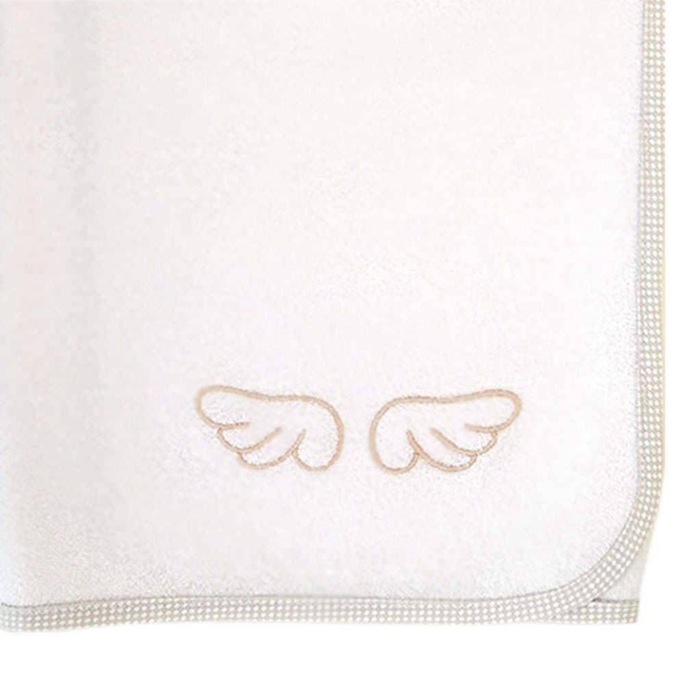 Πάνα Βρεφική Φανελένια Με Κέντημα Des. 320 Little Angel Beige Baby Oliver 80x80cm