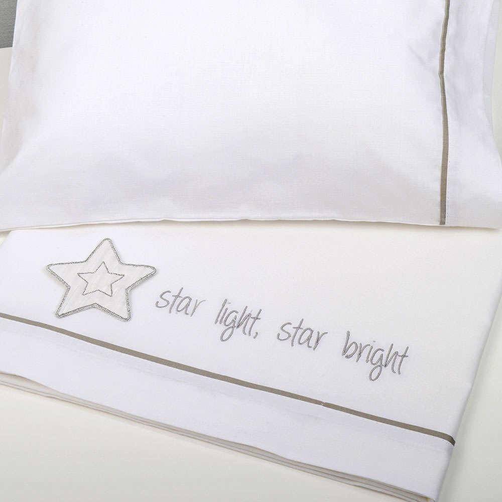 Σεντόνια Βρεφικά Σετ 3 Τεμ Des. 146 Star Light, Star Bright Baby Oliver Λίκνου 75x100cm