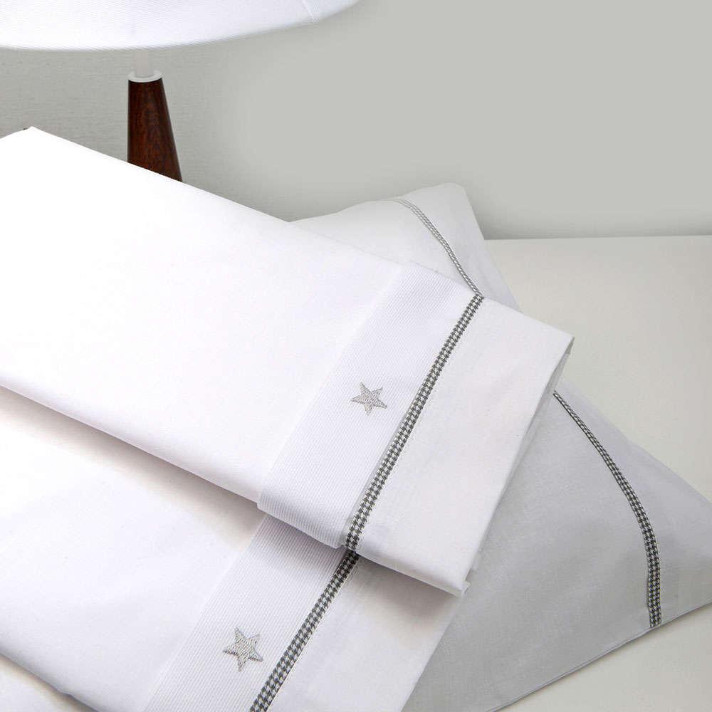 Σεντόνια Βρεφικά Σετ 3 Τεμ Des. 335 Stars Grey Baby Oliver Λίκνου 75x100cm