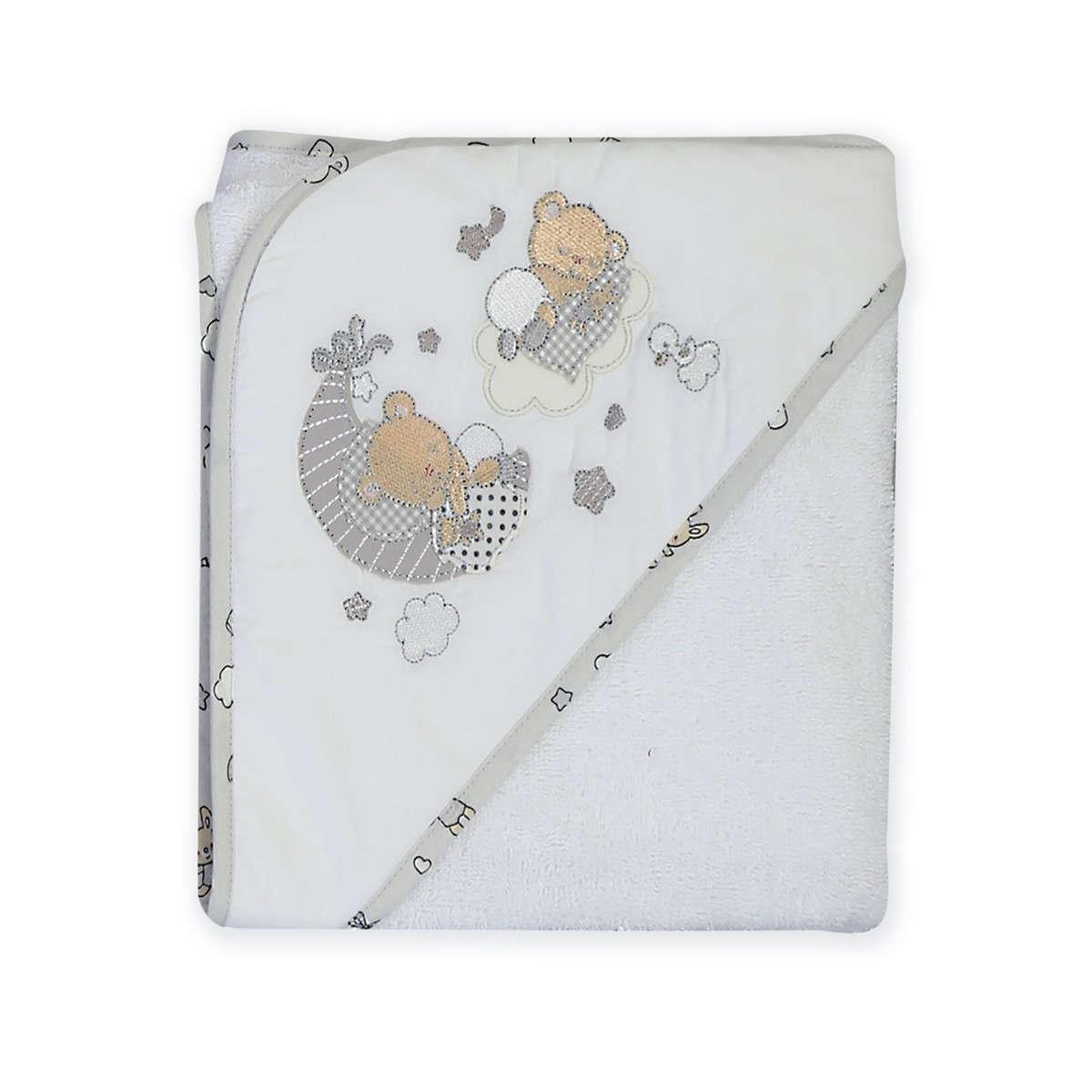Κάπα Βρεφική Happy Dreaming Grey – White Nef-Nef 0-1 ετών One Size