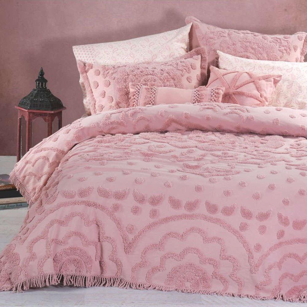 Κουβερλί Siena Pink Nef-Nef Υπέρδιπλo 230x240cm