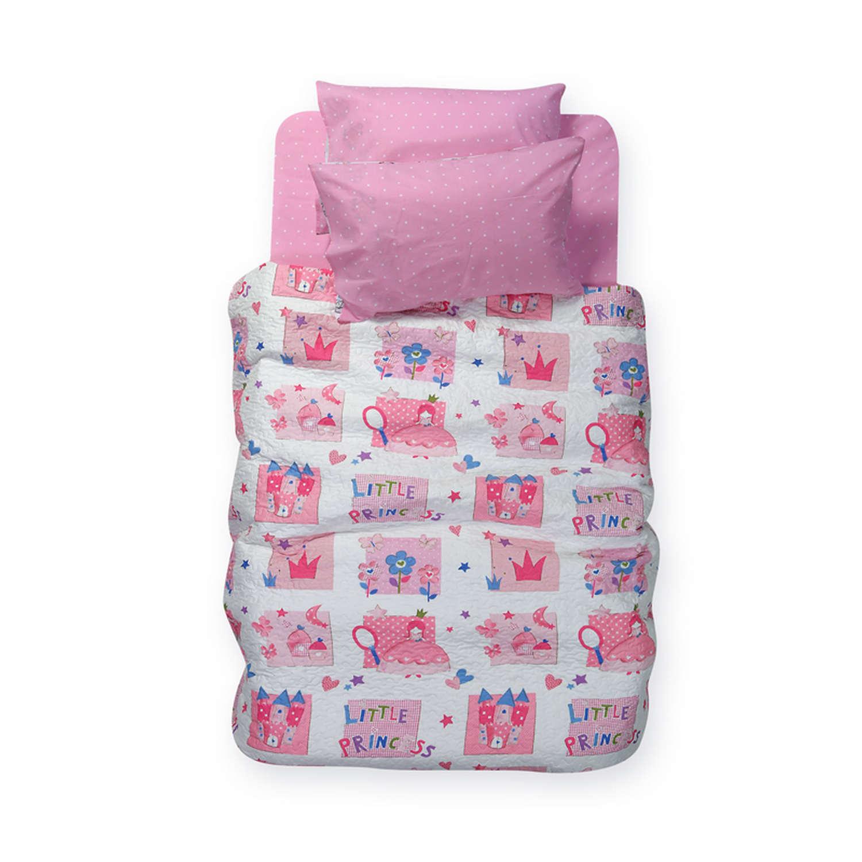 Κουβερλί Παιδικό Little Princess Pink Nef-Nef Μονό 160x220cm
