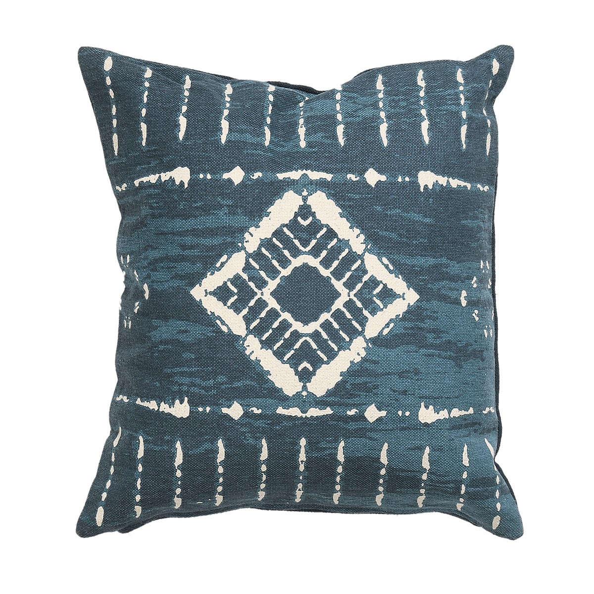 Μαξιλάρι Διακοσμητικό (Με Γέμιση) Racal Dark Blue Nef-Nef 60X60 100% Βαμβάκι