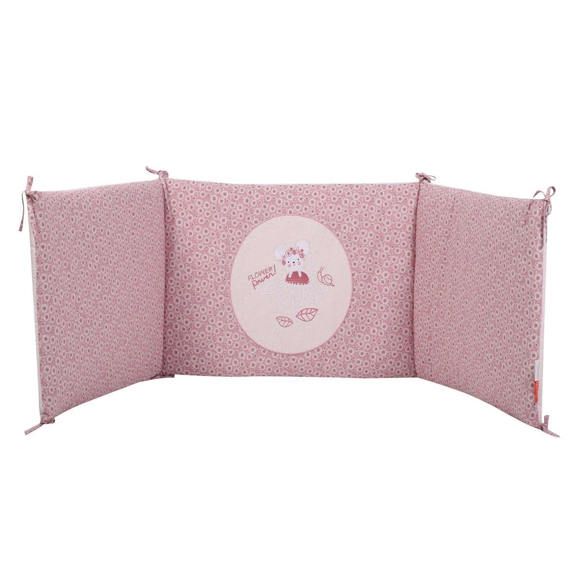 Πάντα Βρεφική Flower Power Pink Nef-Nef 60x67x60+40cm