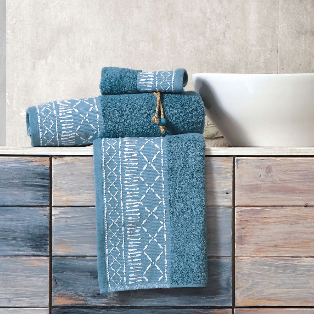Πετσέτα Batik 3τμχ Blue Nef-Nef Σετ Πετσέτες