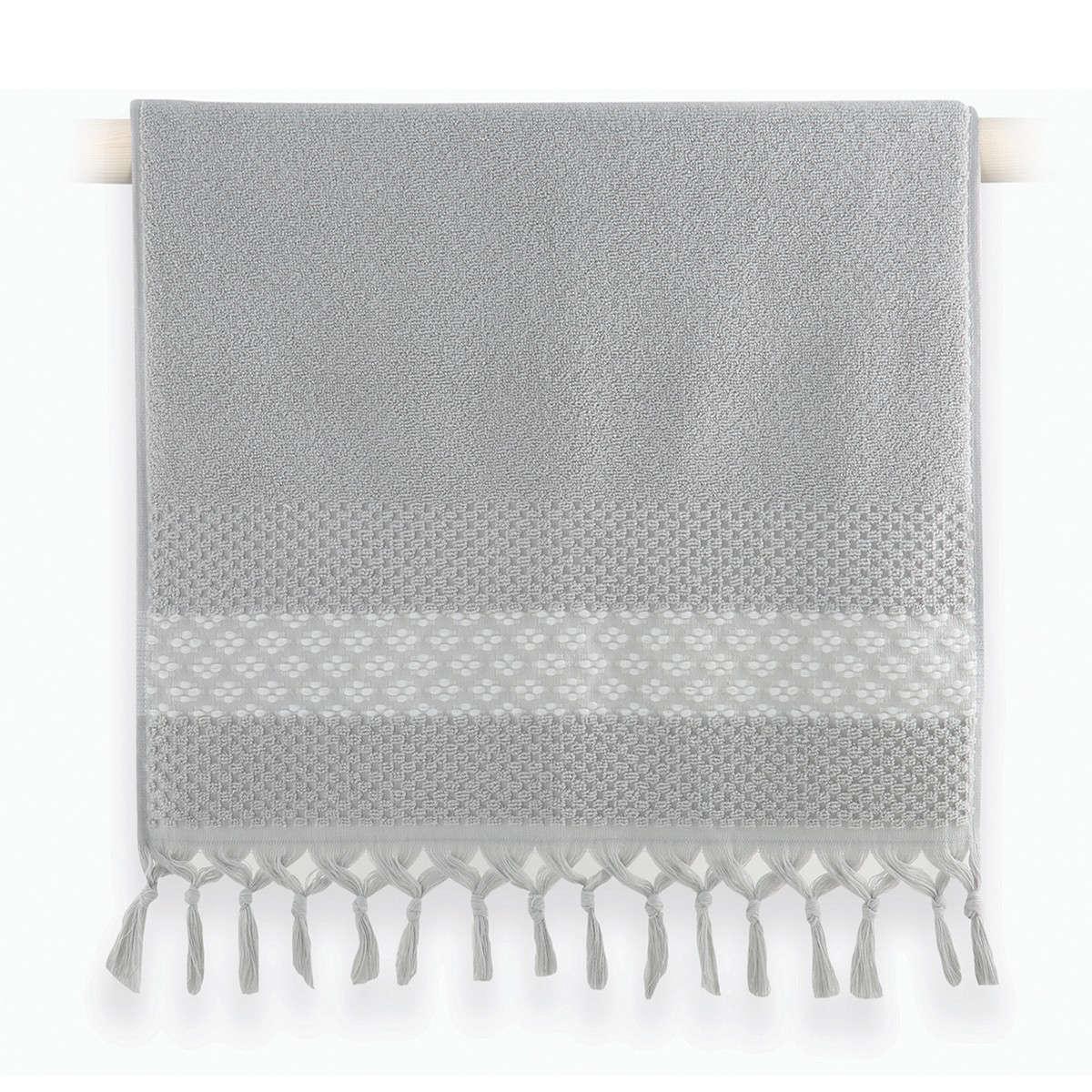 Πετσέτα Elvia Grey Nef-Nef Χεριών 30x50cm