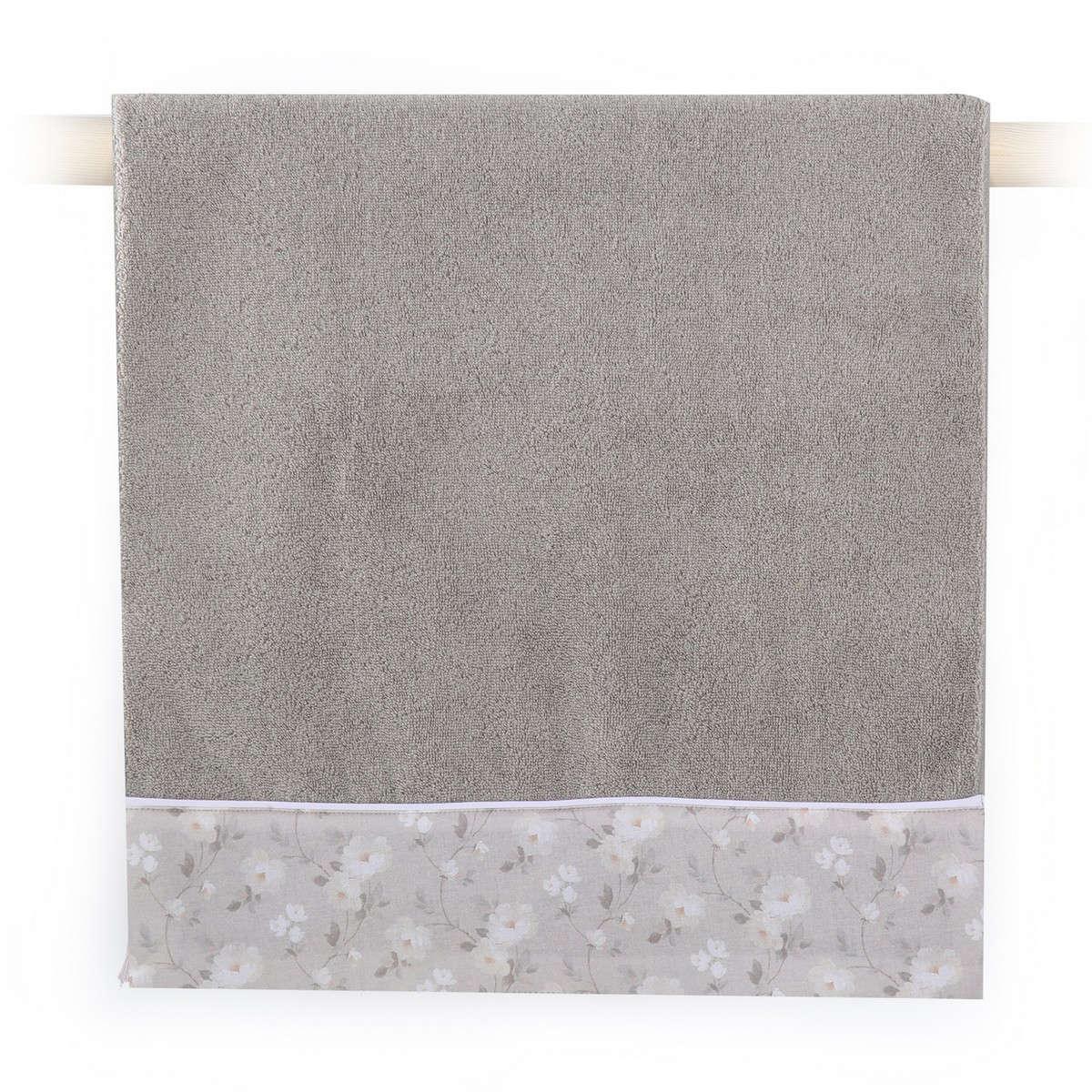 Πετσέτα Lekanto Grey Nef-Nef Σώματος 70x140cm