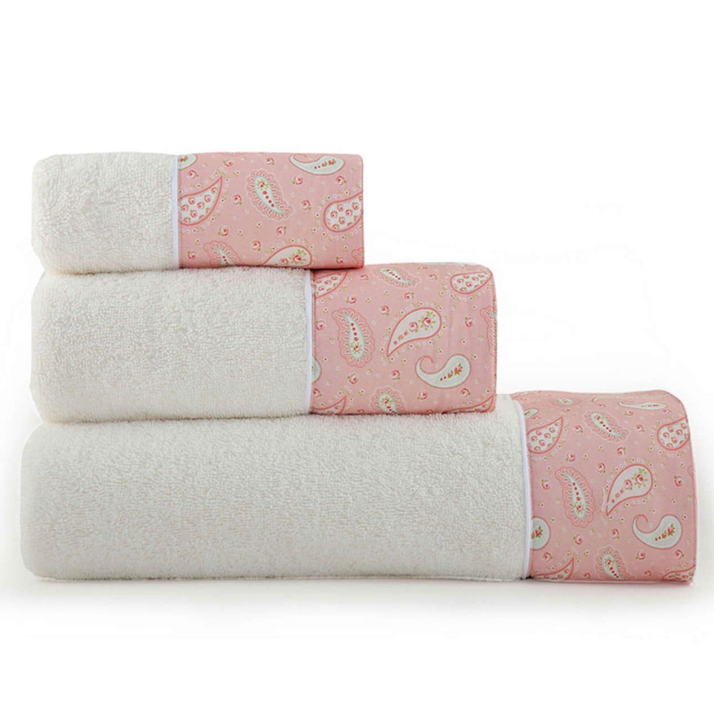 Πετσέτα Motivo Σετ 3τμχ Pink Nef- Nef Σετ Πετσέτες