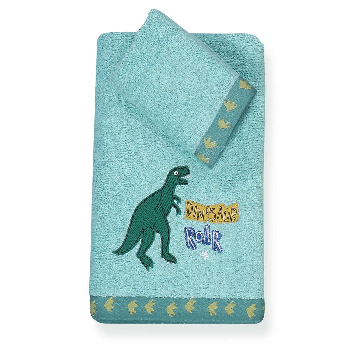 Πετσέτα Παιδική Dinosaur World 2τμχ Ciel Nef-Nef Σετ Πετσέτες