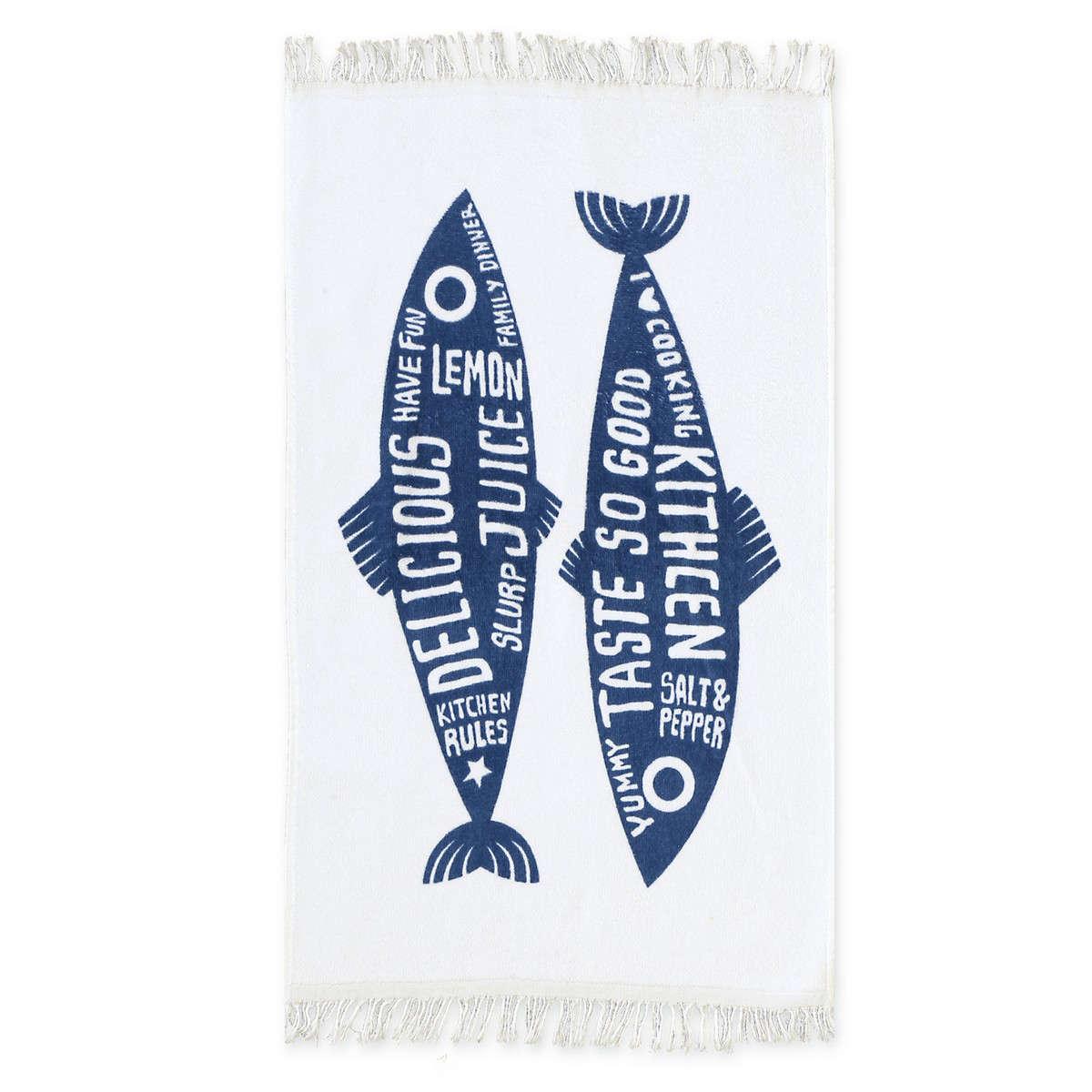 Ποτηρόπανο Trendy Fish Blue Nef-Nef 40x60cm