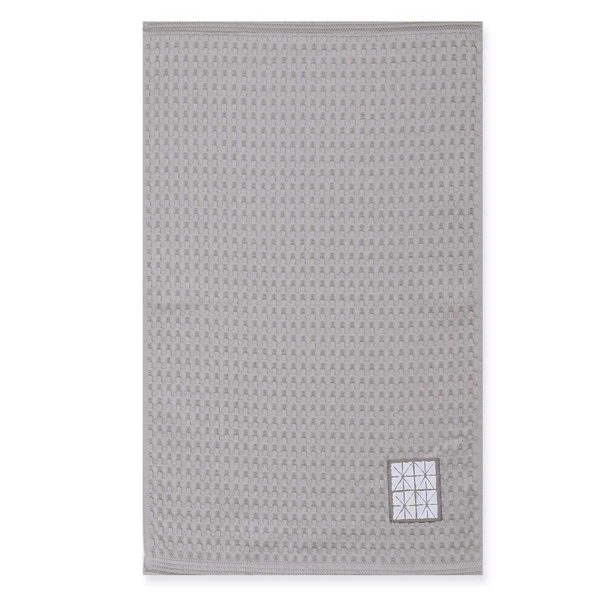 Ποτηρόπανο Πικέ Astra Grey Nef-Nef 45x68cm