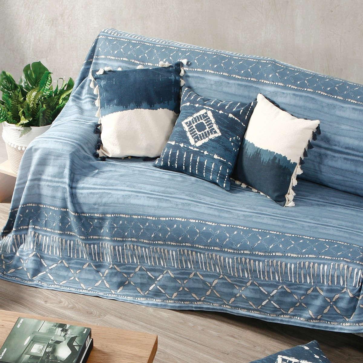 Ριχτάρι Batik Blue Nef-Nef Τριθέσιο 180x300cm
