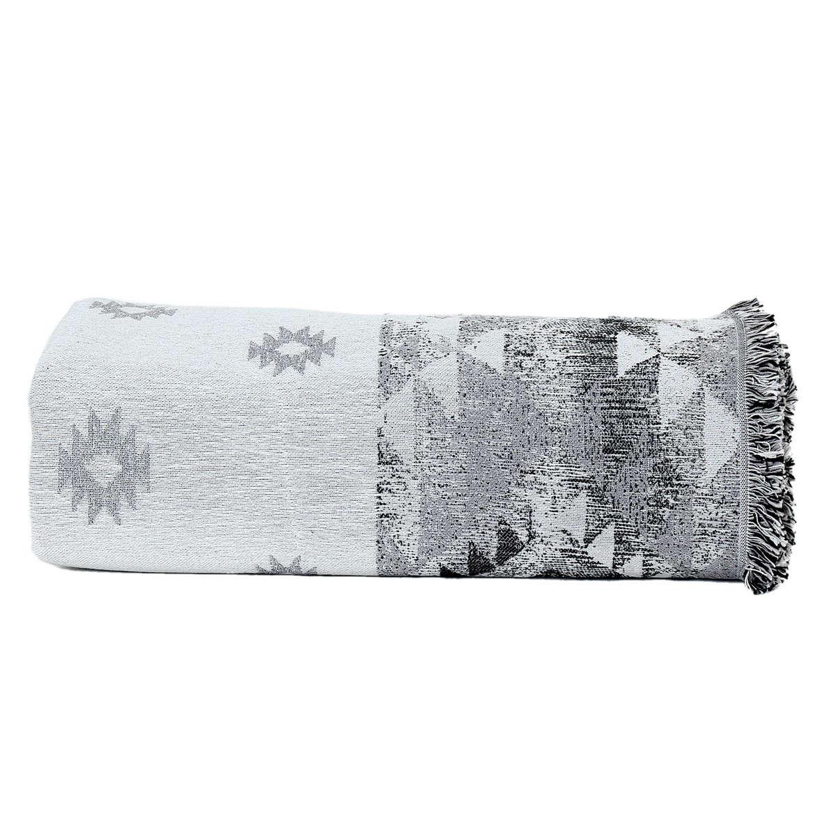 Ριχτάρι Tepic Ecru-Black Nef-Nef Τριθέσιο 170x300cm