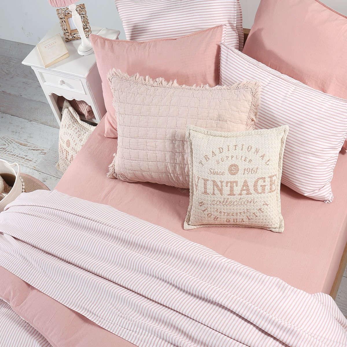 Σεντόνια Σετ 4Τμχ. Vintage Pink Nef-Nef Υπέρδιπλo 240x260cm