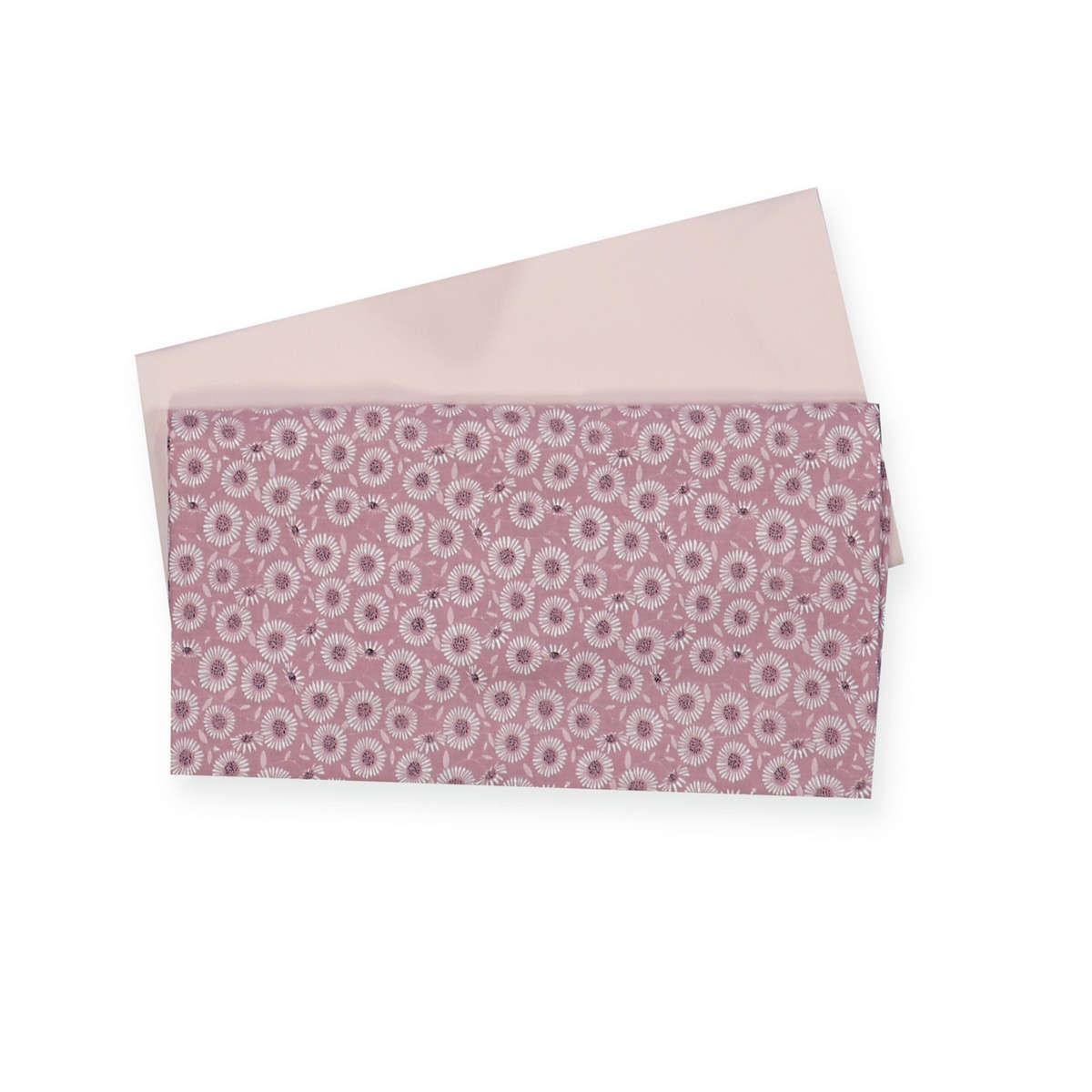 Σεντόνι Βρεφικό Flower Power 2τμχ Pink Nef-Nef Λίκνου 70x120cm