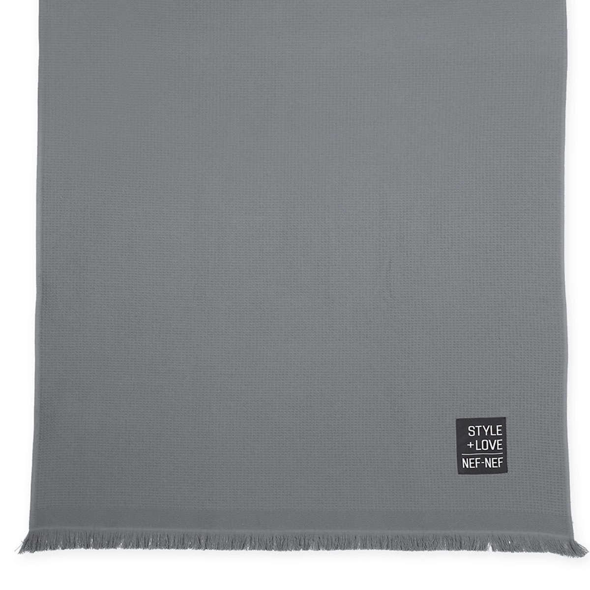 Πετσέτα Θαλάσσης Πικέ Life Style Grey Nef-Nef Θαλάσσης 90x170cm