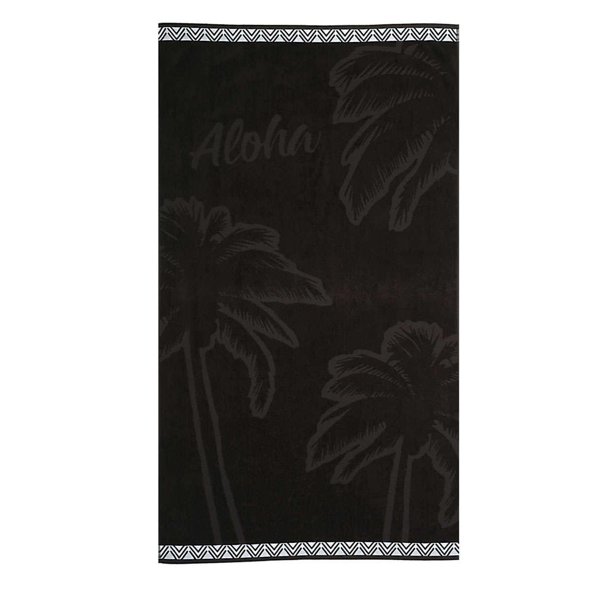 Πετσέτα Θαλάσσης Aloha Black Nef-Nef Θαλάσσης 80x160cm